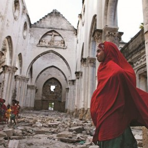 Mogadishu was once colonised by italy. Here, one can see a homeless family who have taken refuge in the remains of an Italian church. Photograph/Mahdieh Mirhabibi