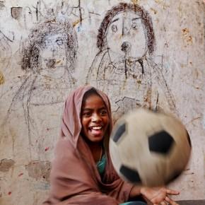 A boy enjoys a light moment amidst all the hardship and trying times in Mogadishu, Somalia. Photograph/Mahdieh Mirhabibi