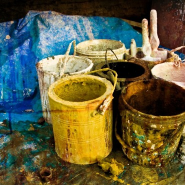 This is how I first found the paintbuckets... so ordinary looking, yet equally unique. Photograph/Nimish Choksi