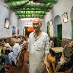 One of his favourite images, he wanted to make a portrait that could capture the nostalgia of one of Kolkata's oldest cafés. Photograph/Anirban Brahma