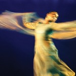 The blur lends a grace to Sufi Kathak performer Manjari Chaturvedi's movements. Photograph/Shobha Deepak Singh