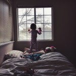 When photographing at home, Veronica prefers to shoot in Emalie's bedroom because of the large windows and the ample light that enters through it. Photograph/Veronica Taylor