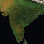 From the Himalayas all the way to Sri Lanka, this expanse of land contains the most unique and versatile ecosystems in the world. Image Courtesy: European Space Agency / VITO