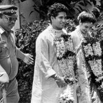 Here is a photograph of Sachin Tendulkar and his wife Anjali, after their wedding ceremony in Mumbai in 1995. Photograph/Neeraj Priyadarshi