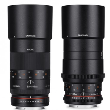 Samyang 100mm f/2.8 ED UMC Macro and 100mm T3.1 VDSLR ED UMC Macro