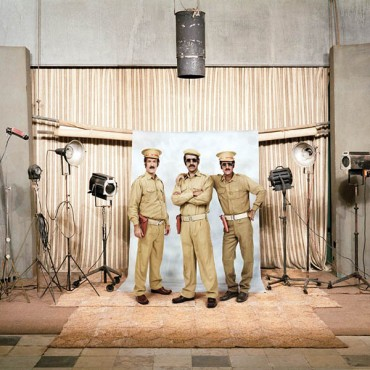 Executed in four phases, Phase I of the Others featured traditional portraits that were made in studios around India. Photograph/Olivier Culmann