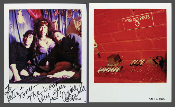 Left: Mar 7, 1993, Right: Apr 13, 1992 Jamie's photographs feature friends, family and from time to time, interesting personalities too, like artist and sex educator Annie Sprinkle, in the image on the left. If he shot two or three images, the first one would always be his 'Photo of the Day'. This held true even if he came across an exciting moment or subject, later in the day. He would date the pictures on the back, with an official looking stamp that his friend, Hugh had gifted to him as a joke.