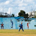 Kids playing baseball at the Sports City in Havana, Cuba. The Equipo la Habana Sub 12, a team for 11-12 year old kids, are seen preparing for the National Championship.