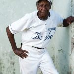 Portrait of a male baseball player at Rafael Conte, in Havana, Cuba. Photograph/Ira Block