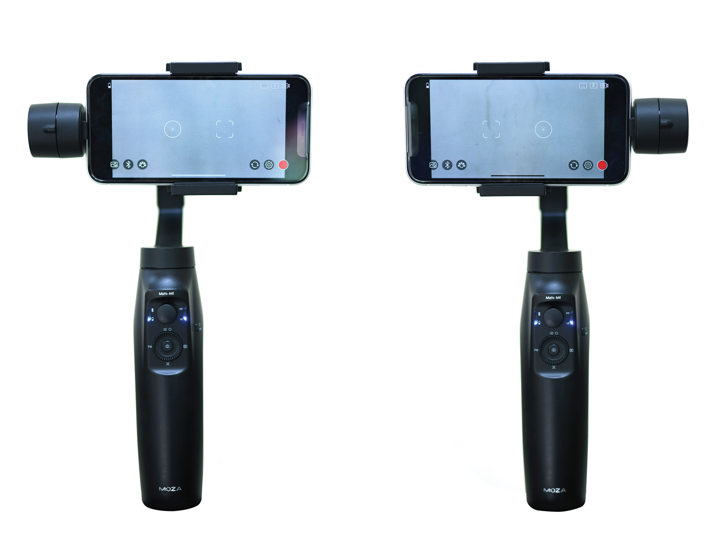 The Moza Mini-MI s roll arm can be set to the left and the right side. It  designed in this way to accommodate different charging ports and audio  jacks. 2265023fd7