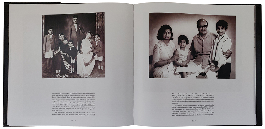 he photographs on this spread are of the Poddar and Neotia families in Calcutta. The text dwells on the union of both the families, and their contribution to the thriving business culture, in the city.