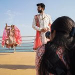 Rishika Brahma photographs the couple, while on-board the Angriya cruise liner. Photograph/Nilofer Khan