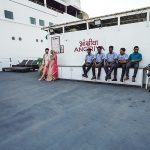 Pon Prabakaran photographs the couple, while on-board the Angriya cruise liner. Photograph/Nilofer Khan