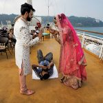 Abhimanyu Sharma photographs the couple, while on-board the Angriya cruise liner. Photograph/Nilofer Khan