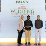 Pon Prabakaran, Winner, Photoseries on a Single Wedding category, receives his award from Sherwin Crasto & Milind Ketkar.