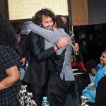After his win, an ecstatic Divyam Ramji Mehrotra, embraces Gautam Agarwal.