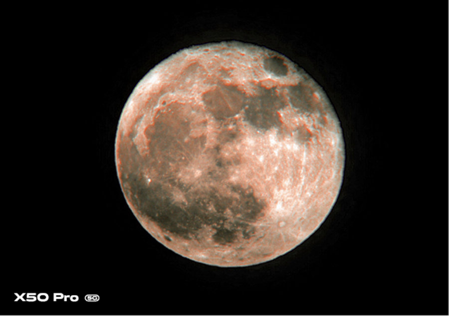 This image was shot using the Supermoon mode in the vivo X50 Pro. Photograph by K Madhavan Pillai